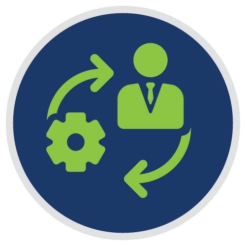 Person and Cogwheel Icon